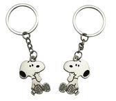 【卡漫城】 Snoopy 鑰匙圈 合金 2入 ㊣版 日版 吊飾 扣環 吊飾環 掛飾 史努比 史奴比 情侶 愛心