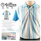 【大盤大】goldlion 金利來 M號 短袖POLO衫 男 夏 直條紋 休閒衫 有領棉衫 父親節 生日禮物