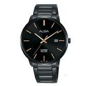 日本  ALBA雅柏錶   新上市時尚簡約日期視窗腕錶 VJ42-X260SD.(AS9H35X1) 黑