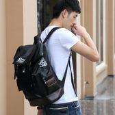 個性韓版雙肩包男士時尚潮流百搭背包皮包青年大學生書包旅行英倫 溫暖享家