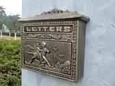 歐式田園鑄鐵工藝品壁掛式貴族獵人信報箱郵箱鐵藝信箱裝飾品 莎拉嘿喲