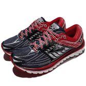 BROOKS 慢跑鞋 Glycerin 14 Olympic 甘油系列 十四代 灰 紅 超級DNA動態避震科技 男鞋【PUMP306】 1102361D478