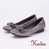 kadia.方型飾釦尖頭包鞋(9051-85灰色)