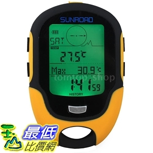 [7美國直購] Sunroad 數位高度計氣壓計指南針 FR500 Multifunction LCD Digital Altimeter Barometer Compass R1Q0