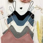 針織背心 韓版V領修身細肩帶吊帶打底衫顯瘦外穿無袖針織小背心女上衣