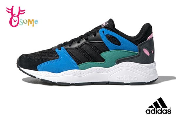 adidas CHAOS 成人男款 易烊千璽同款 流行穿搭 復古老爹鞋 慢跑鞋 運動鞋 Q9392#黑色◆OSOME奧森鞋業