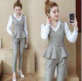 超殺29折 韓國風OL小香風時尚修身顯瘦氣質套裝長袖褲裝