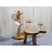 《齊洛瓦鄉村風雜貨》日本zakka雜貨 Paseo 手握砧板造型椅花架 砧板造型椅展示架 擺放架 (圓)