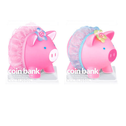 【4M 創意 DIY】Coin Bank/Ballerina Piggy芭蕾小豬撲滿(粉紅/粉藍裙)