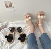 羅馬涼鞋女仙女風潮新款夏學生平底時尚百搭兩穿舒適拖鞋 - 歐美韓熱銷