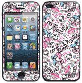 Hello Kitty彩繪貼 iPhone 5s 5 iPhone SE 螢幕保護貼+背蓋貼  (802)