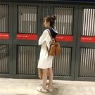 新款簡約後背包女包大容量背包休閑學生書包PU女包