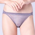 思薇爾-晴星系列M-XL蕾絲低腰三角內褲(鋅灰色)