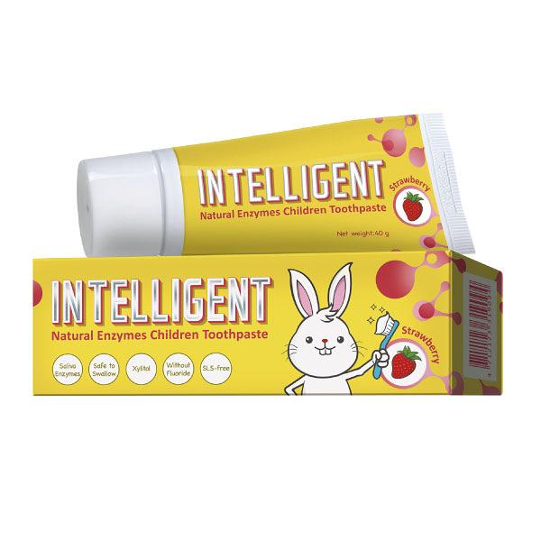 Intelligent 因特力淨 兒童酵素牙膏-草莓優格 (40g/條)【杏一】