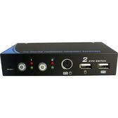 【免運費】NuSwitch CD-102C 2 PORT 雙介面 (PS/2+USB) KVM 電子式電腦切換器