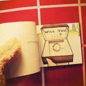 手翻書動畫浪漫求婚表白神器情人節創意生日禮物送女友男生【全館免運聖誕八折】