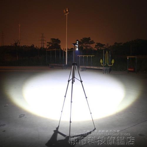 手電筒 強光手電筒遠射高亮度LED可充電超亮變焦戶外防身迷你防水打獵 城市科技