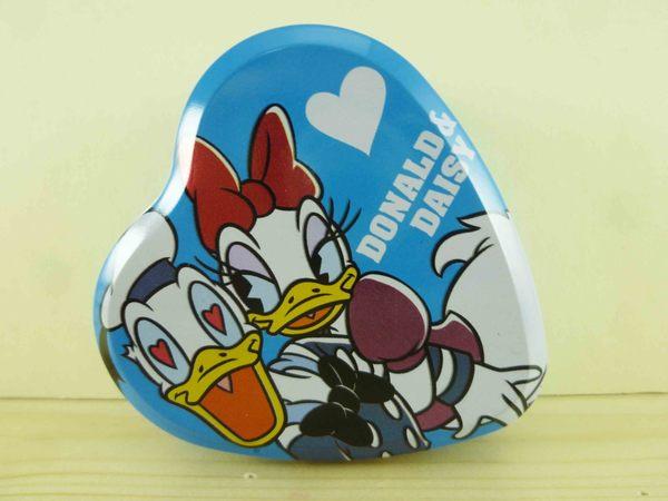 【震撼精品百貨】Donald_唐老鴨~鐵盒附貼紙-藍愛心