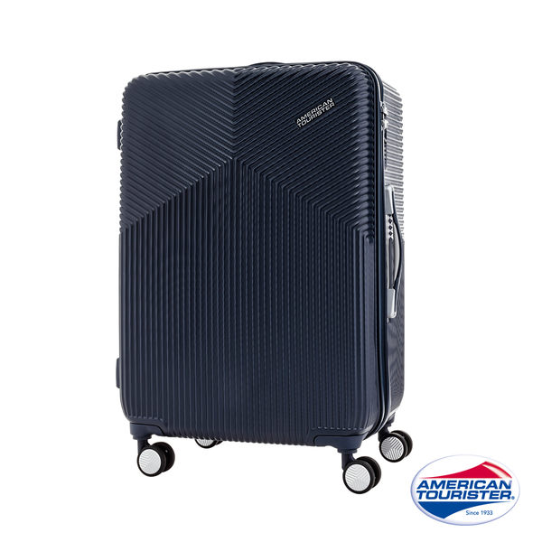 AT美國旅行者 29吋Air Ride 2/8開彈力滑輪PC硬殼行李箱(海軍藍)