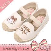 HELLO KITTY X Ann'S親子系列花園小仙子刺繡草編童鞋-米