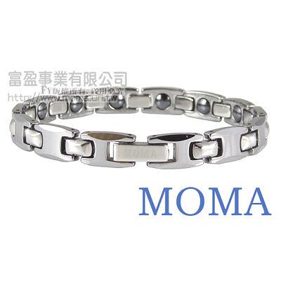 【MOMA】鎢鋼鍺磁手鍊至尊窄版-M82L