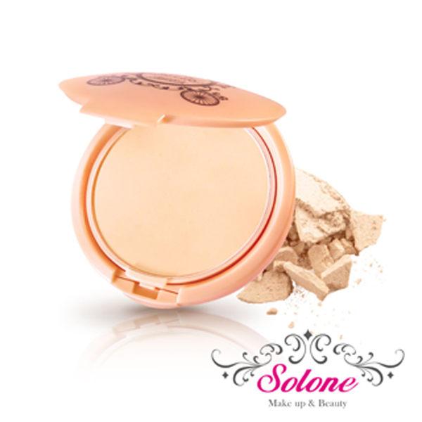 Solone 玫瑰公主花園系列 零妝感淨白保濕粉餅 11g 《Belle倍莉小舖》