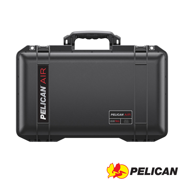 美國 PELICAN 1535TRVL Air Travel Case 輪座拉桿超輕氣密箱-(黑) 公司貨