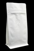 東尚咖啡袋USW004PZ+V 4oz白牛皮紙口袋拉鍊平底袋Box Pouch+Pocket Zip(平底+拉練)=50個/盒(有氣閥)