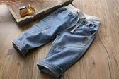 男童牛仔短褲薄款純棉18春夏季新款童裝兒童五分褲舒適休閒中褲子 挪威森林