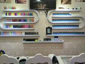 美甲店展示架化妝品架壁掛鐵藝指甲油牆壁置物架甲油膠架子貨架櫃