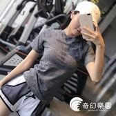 運動上衣-健身女孩 薄款緊身運動短袖速干透氣顯瘦上衣T恤跑步瑜伽服半袖-奇幻樂園