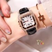 女士手錶 抖音同款網紅水鑽手錶女士時尚潮流防水韓版簡約女錶學生ins風 6色