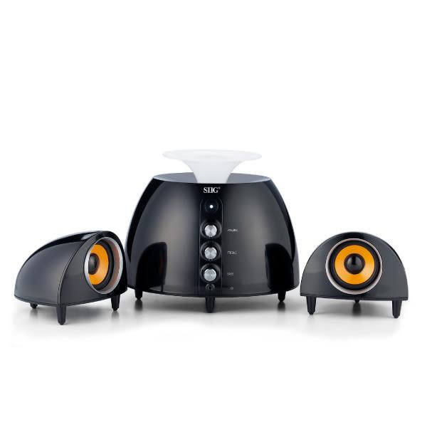 【OUI「為」精品】UTOPIA2.1聲道多媒體造型喇叭U-X2000-1鏡面黑