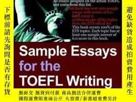 二手書博民逛書店Sample罕見Essays For The Toefl Writing TestY256260 Toefle