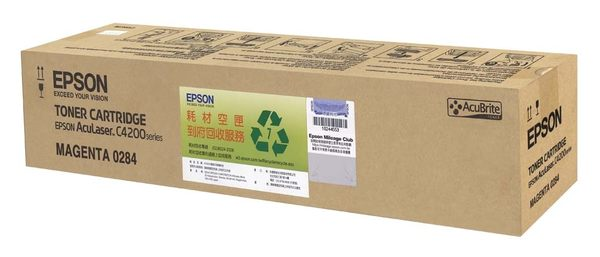 S050284 EPSON 原廠紅色碳粉匣(取代S050243) (可列印 8,500 頁) AcuLaser C4200