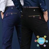 (中秋大放價)西褲夏季薄款男士休閒褲直筒西褲商務男褲寬鬆黑色褲子男春季男裝