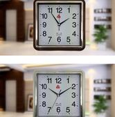 三五555牌正方形掛鐘簡易鐘表時尚客廳現代掛表簡約靜音臥室時鐘igo   酷男精品館