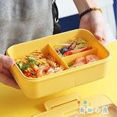 上班族分隔型單層防燙帶飯盒可微波爐加熱便當盒餐盒【奇趣小屋】
