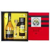【養蜂人家】雙喜醋蜜禮盒(皇家金鐉蜂蜜425g+蜂蜜醋600ml)