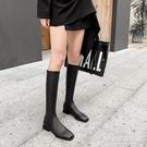 長靴女新款靴子不過膝長筒靴皮靴中筒騎士靴...