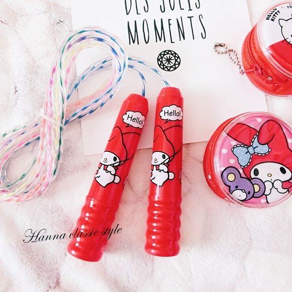 《花花創意会社》MELODY紅色可愛手柄塑膠跳繩【H4782】