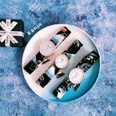 日系原宿新款手錶日系富士山藍色手錶圓錶腕錶石英錶禮盒裝 - 歐美韓