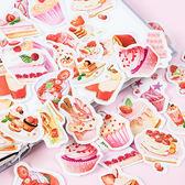 【BlueCat】草莓下午茶盒裝貼紙 手帳貼紙 (46入)