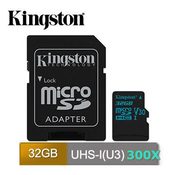 SDCG2/32GB Kingston Gold microSDHC (U3) 4K 90/45MB 32GB 記憶卡