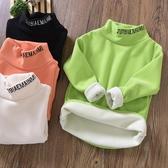 男童加絨加厚半高領打底衫冬款兒童裝長袖T恤中大童襯衣寬鬆版潮-ifashion