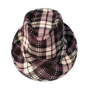 格子牛仔帽