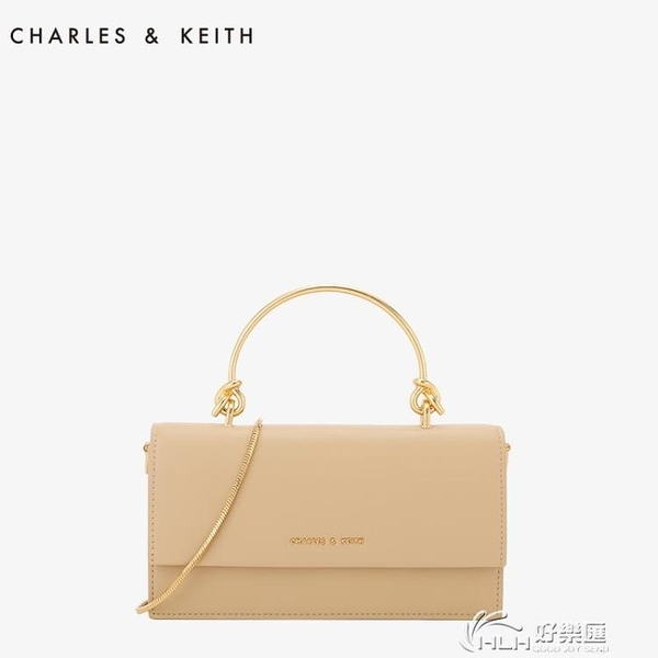 CHARLES&KEITH長款錢包CK6-10840136翻蓋單肩手拿錢包小巧錬條包 好樂匯