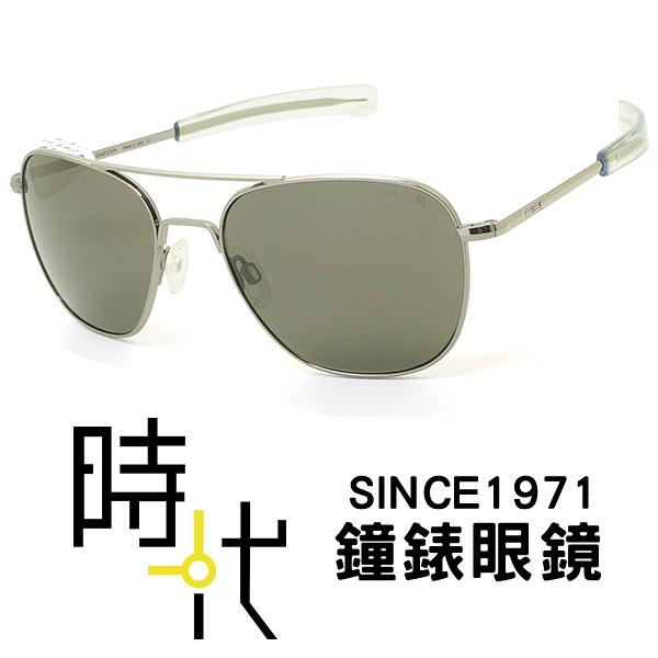 【台南 時代眼鏡 RANDOLPH】偏光墨鏡太陽眼鏡 AF148 58m 槍黑框 偏光灰色鏡片 美國製 軍規認證 飛官款