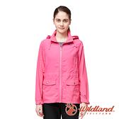 【wildland 荒野】女 SUPPLEX透氣50+抗UV外套『蜜桃紅』0A91901 戶外 露營 登山 吸濕 排汗 快乾