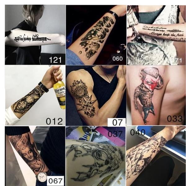 紋身貼 防潑水紋身貼男女持久仿真正韓花臂3d性感圖騰刺青遮疤身體彩繪貼紙